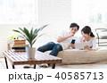 若い夫婦(タブレット・スマホ) 40585713