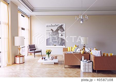modern living room design. 40587108