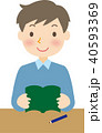 子供 読書 人物のイラスト 40593369