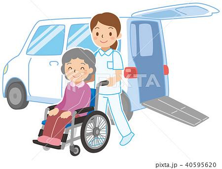 車いす仕様車での送迎 40595620