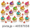 カップケーキ ベクター 食のイラスト 40597038
