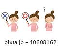 ポップな女性 〇×ハテナ 40608162