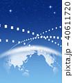 ビジネス グローバル 世界地図のイラスト 40611720