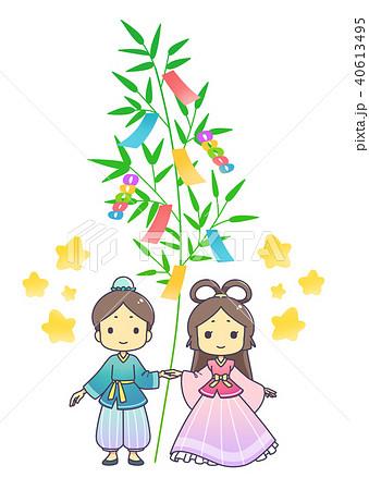 織姫と彦星 七夕飾り 40613495
