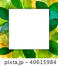 背景素材 葉っぱ フレームのイラスト 40615984