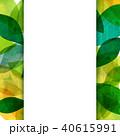 背景素材 葉っぱ フレームのイラスト 40615991