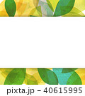 背景素材 葉っぱ フレームのイラスト 40615995