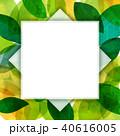 背景素材 葉っぱ フレームのイラスト 40616005