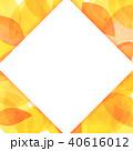 葉っぱ フレーム 葉のイラスト 40616012