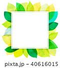 背景素材 葉っぱ フレームのイラスト 40616015