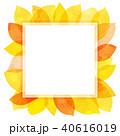 葉っぱ フレーム 葉のイラスト 40616019