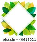 背景素材 葉っぱ フレームのイラスト 40616021