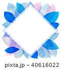 背景素材 葉っぱ フレームのイラスト 40616022
