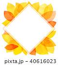 葉っぱ フレーム 葉のイラスト 40616023