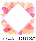 背景素材 葉っぱ フレームのイラスト 40616027
