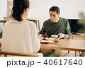 食事をする日本人ミドル夫婦 40617640
