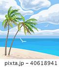 ベクトル 海岸 ビーチのイラスト 40618941