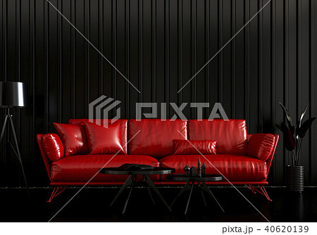 Interior living room  metal sheet wall. 3d render 40620139
