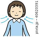 深呼吸 呼吸 呼吸法のイラスト 40620391