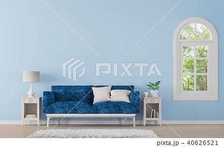 Modern classic living room 3d render 40626521