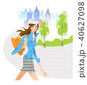人物 女性 歩くのイラスト 40627098