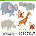 動物 マンガ きりんのイラスト 40627617