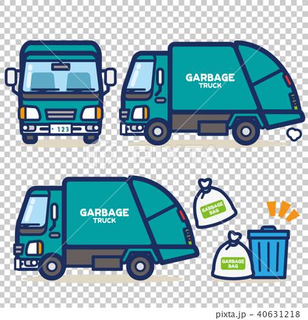 はたらく乗り物 ゴミ収集車(グリーン系) 40631218