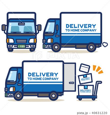 はたらく乗り物 宅配トラック(青系) 40631220