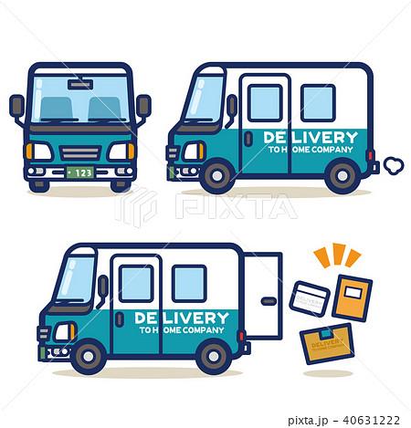 はたらく乗り物 宅配トラック(グリーン系) 40631222