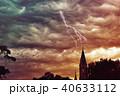 嵐 暴風雨 教会のイラスト 40633112