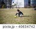 男の子 子供 公園の写真 40634742