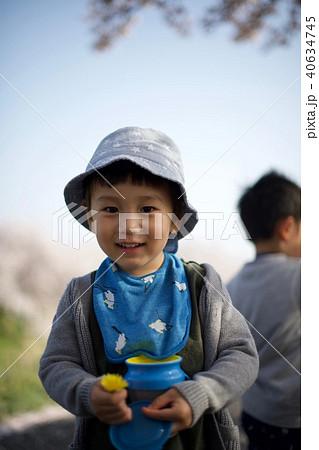 2歳児の男子/お花見にて 40634745