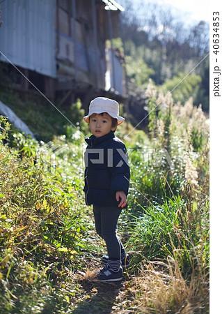 二歳児の日常/畑の中で 40634853