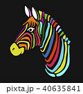 動物 しまうま シマウマのイラスト 40635841