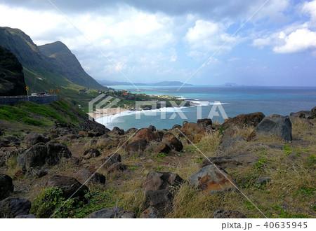 ハワイ オアフ島 ヘイアウ マカプウ展望台 風景 空と海 Hawaii Oahu Hayau 40635945