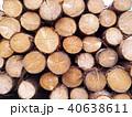 丸太 一面の木材 40638611