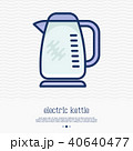 Electric kettle thin line icon 40640477