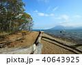 支笏湖 湖 湖畔の写真 40643925