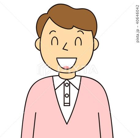 男性 笑顔 バリエーションのイラスト素材 40646042 Pixta
