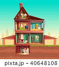 ベクトル 住宅 住居のイラスト 40648108