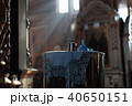 interior of the Orthodox Russian church lit by light from the windows 40650151