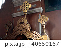 interior with patterns in a church of golden color 40650167