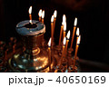 burning candles in the church in a special place 40650169