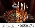 burning candles in the church in a special place 40650171