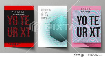 the vector illustration of the editable layout a4 format cover