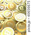コイン 硬貨 ビットコインのイラスト 40656675