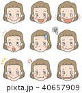 顔 表情 女の子のイラスト 40657909