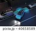 夜間自動駐車運転支援システムで縦列駐車しているSUV。 40658589