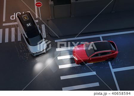 出会い頭事故を回避したSUV。自動ブレーキのコンセプト 40658594