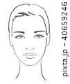 顔 面 面子のイラスト 40659246